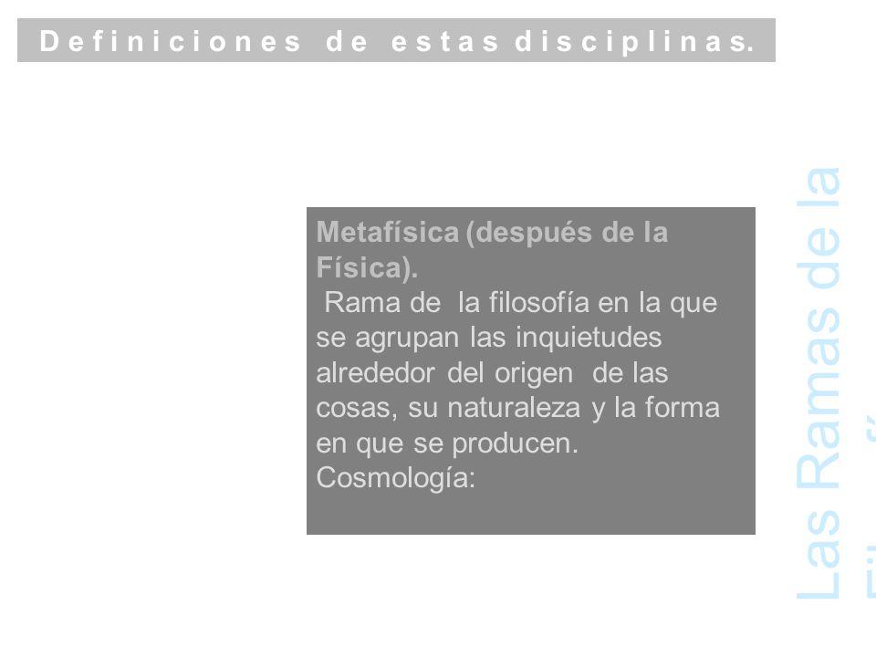 Las Ramas de la Filosofía Lógica.