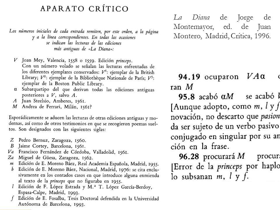 La Diana de Jorge de Montemayor, ed. de Juan Montero, Madrid, Crítica, 1996.