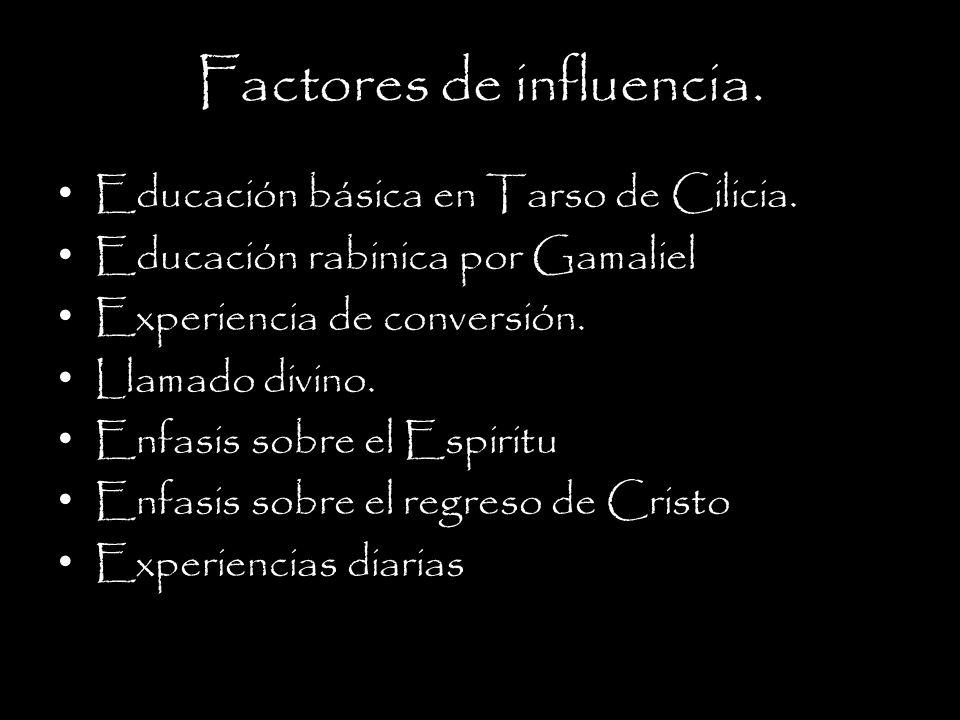 Factores de influencia.Educación básica en Tarso de Cilicia.