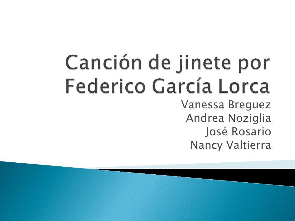 Garcia Lorca, Federico.Cancion de jinete. Approximaciones al estudio de la literatura hispanica.