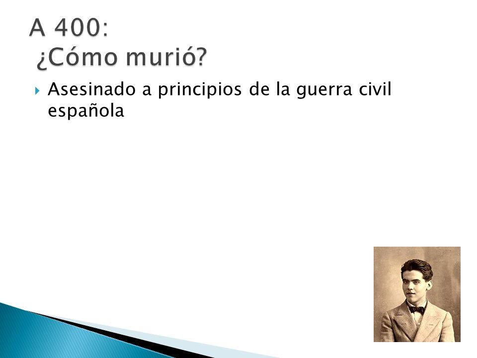 Asesinado a principios de la guerra civil española