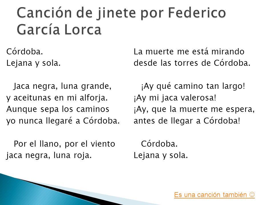 A Federico García Lorca B Canción de jinete C Poesia 100 200 300 400 500