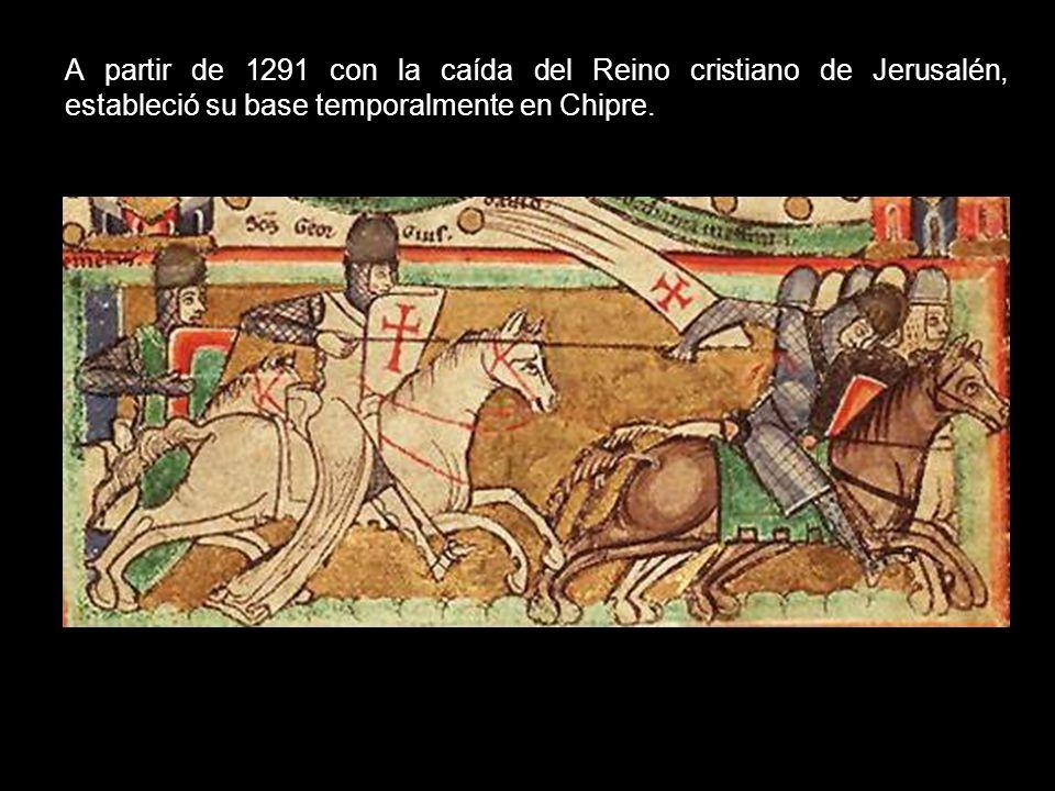 Cuando la Orden del Temple (fundada en Jerusalén, en 1118 por nueve caballeros franceses) fue disuelta por la bula pontificia (1312), sus bienes fuero