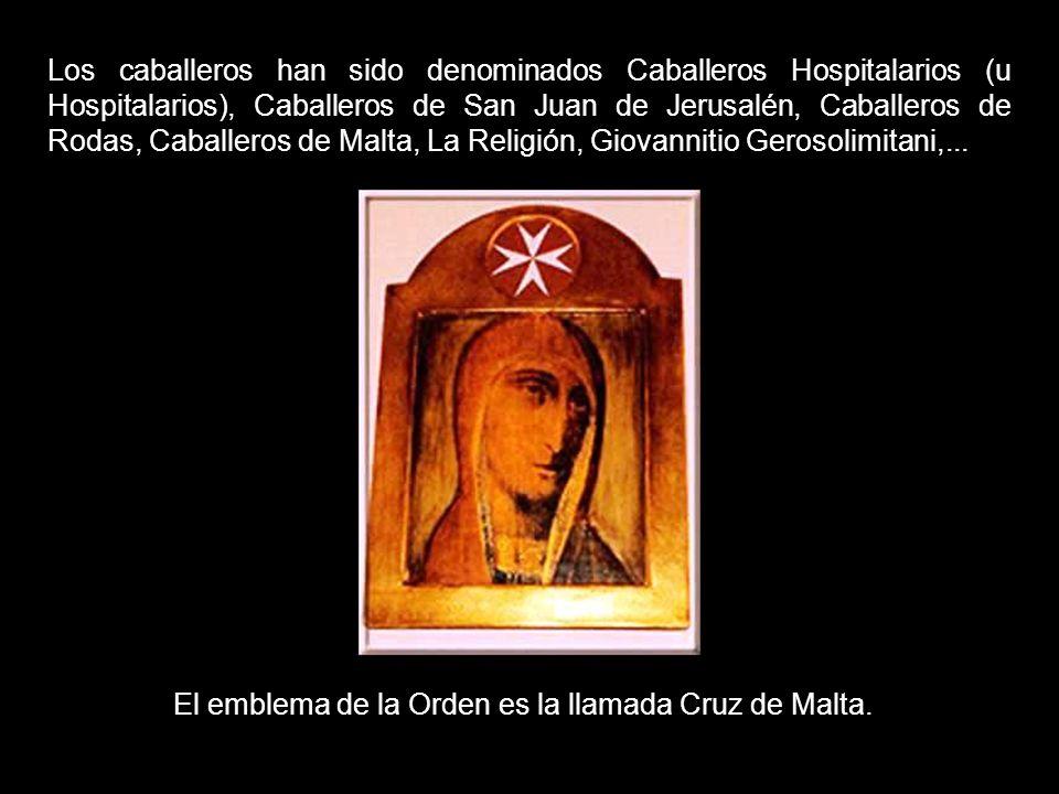 El nombre oficial de la Orden de Malta es Soberana Orden Militar y Hospitalaria de San Juan de Jerusalén, de Rodas y de Malta.