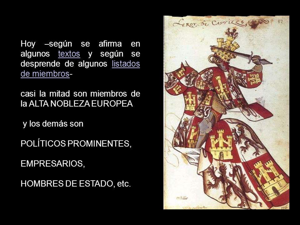 La naturaleza caballeresca explica y justifica el mantenimiento del carácter nobiliario de la Orden, ya que muchos de sus Caballeros procedían en el p