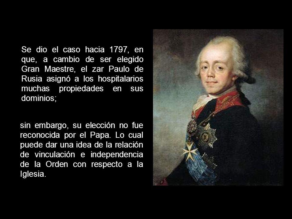 La cabeza de la Orden de Malta es el Gran Maestre que es al mismo tiempo cabeza de un Estado soberano y de una Orden religiosa. Al Gran Maestre, en vi