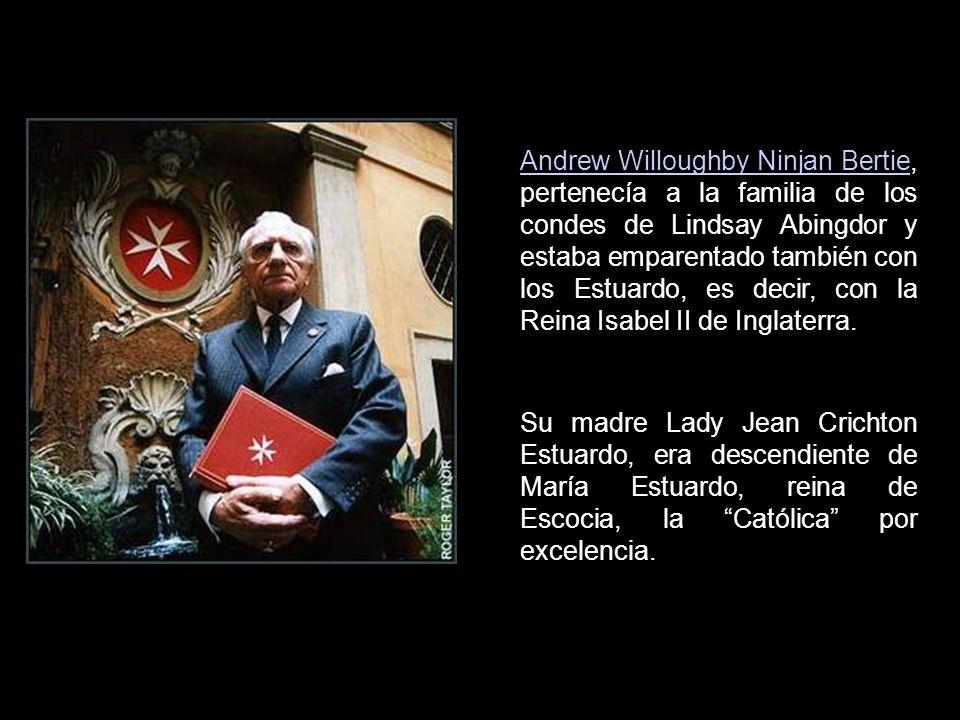 El 12 de abril de 1988, el periódico El País decía: El británico Andrew Bertie, elegido gran maestre de la Orden de Malta.El País Y en la primera líne
