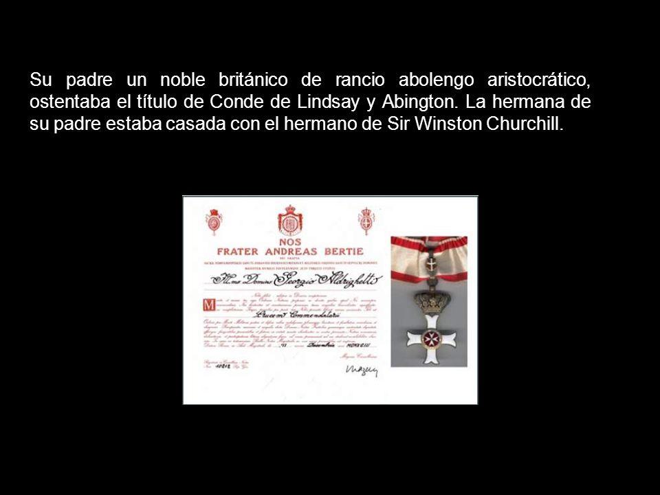 Andrew Willoughby Ninjan BertieAndrew Willoughby Ninjan Bertie, pertenecía a la familia de los condes de Lindsay Abingdor y estaba emparentado también