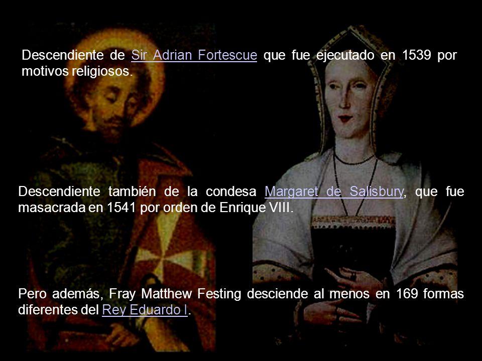 Desde el 11 marzo 2008, tras la muerte de Bertie, el 79º Príncipe y Gran Maestre es su Alteza Eminentísima Frey Matthew Festing.Frey Matthew Festing