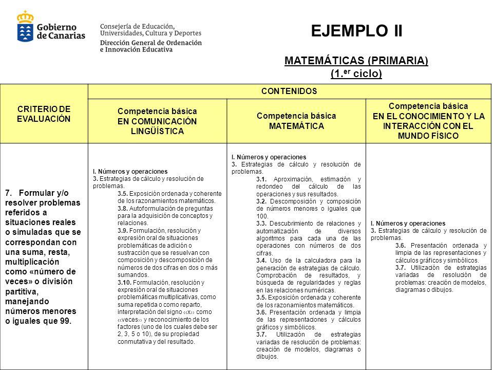 EJEMPLO II MATEMÁTICAS (PRIMARIA) (1.