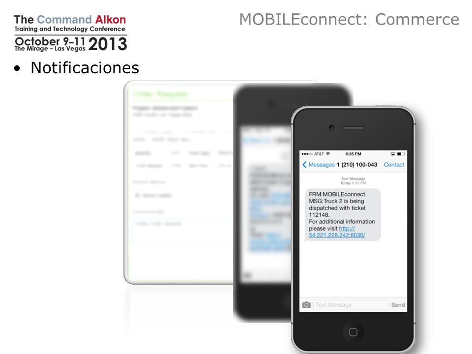 MOBILEconnect: Commerce Notificaciones