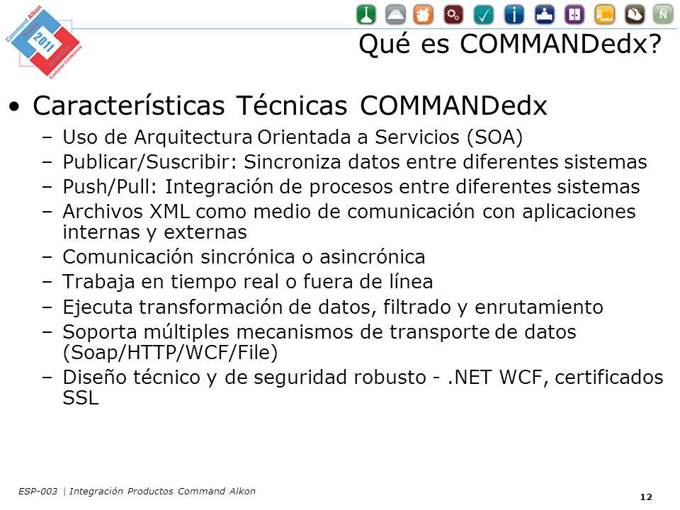 Qué es COMMANDedx.