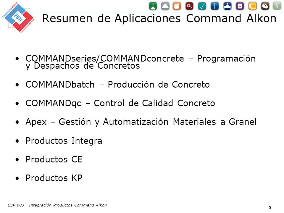 COMMANDreplenish 46 ESP-003 | Integración Productos Command Alkon