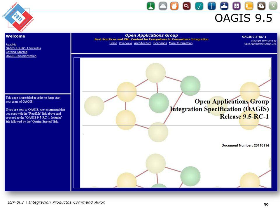 OAGIS 9.5 59 ESP-003 | Integración Productos Command Alkon