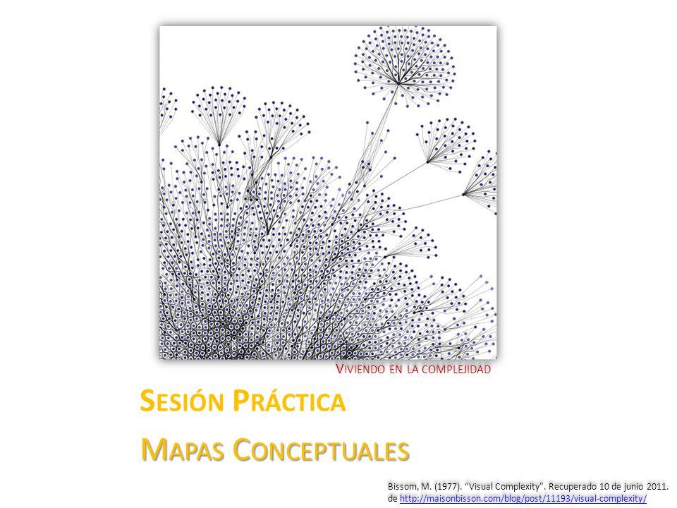 V IVIENDO EN LA COMPLEJIDAD S ESIÓN P RÁCTICA M APAS C ONCEPTUALES Bissom, M. (1977). Visual Complexity. Recuperado 10 de junio 2011. de http://maison