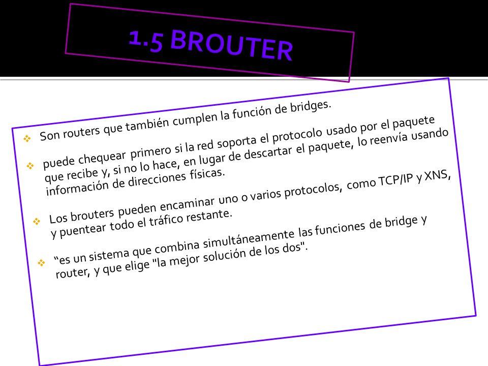 Son routers que también cumplen la función de bridges. puede chequear primero si la red soporta el protocolo usado por el paquete que recibe y, si no