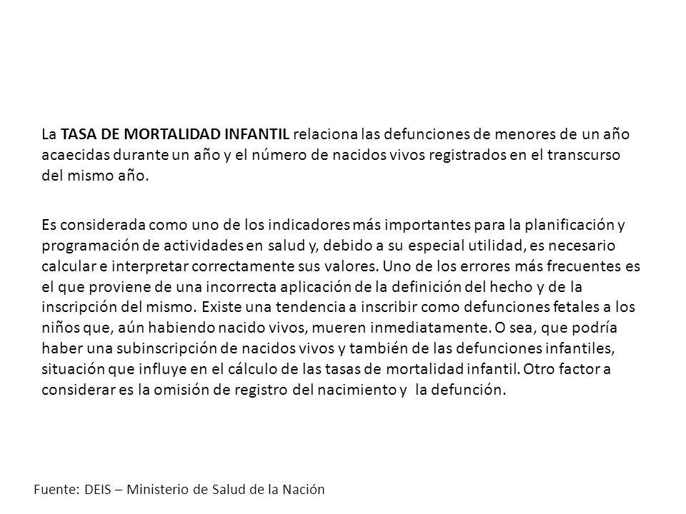 TASA DE MORTALIDAD INFANTIL Nro.