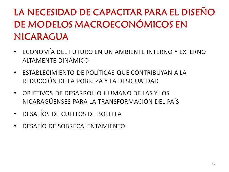 LA NECESIDAD DE CAPACITAR PARA EL DISEÑO DE MODELOS MACROECONÓMICOS EN NICARAGUA ECONOMÍA DEL FUTURO EN UN AMBIENTE INTERNO Y EXTERNO ALTAMENTE DINÁMI
