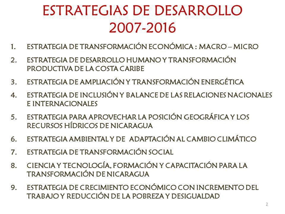 ESTRATEGIAS DE DESARROLLO 2007-2016 2