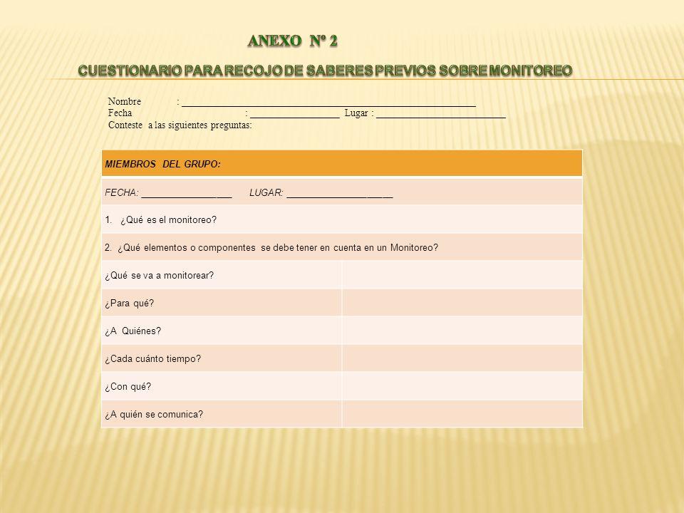 Institución Educativa: Código Modular de la I.E.
