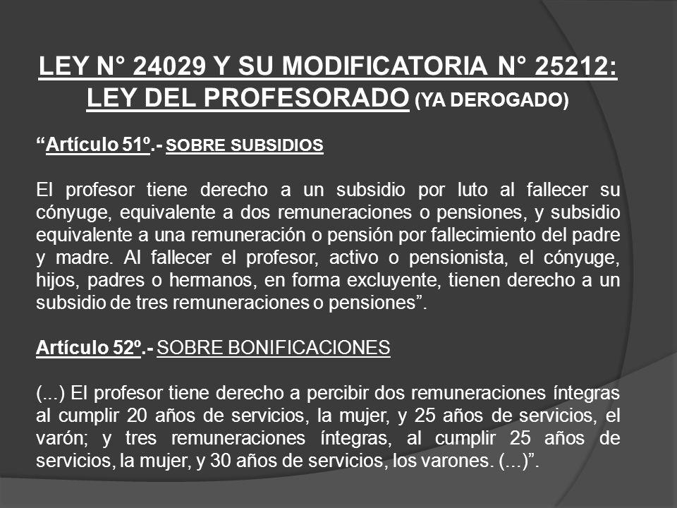 SUBSIDIO POR LUTO CARGO: Docente CARGO: Profesor CATEGORÍA REMUNERATIVA: II Nivel Magisterial PERIODO DE CÁLCULO: 10-2012 SUBSIDIO: Luto fallecimiento del Titular Conceptos Ley del Profesorado y Resolución N°001-2011- SERVIR/TSC Decreto Supremo N°051-91-PCM Informe Legal N°524- 2012-SERVIR/GPGSC(*)