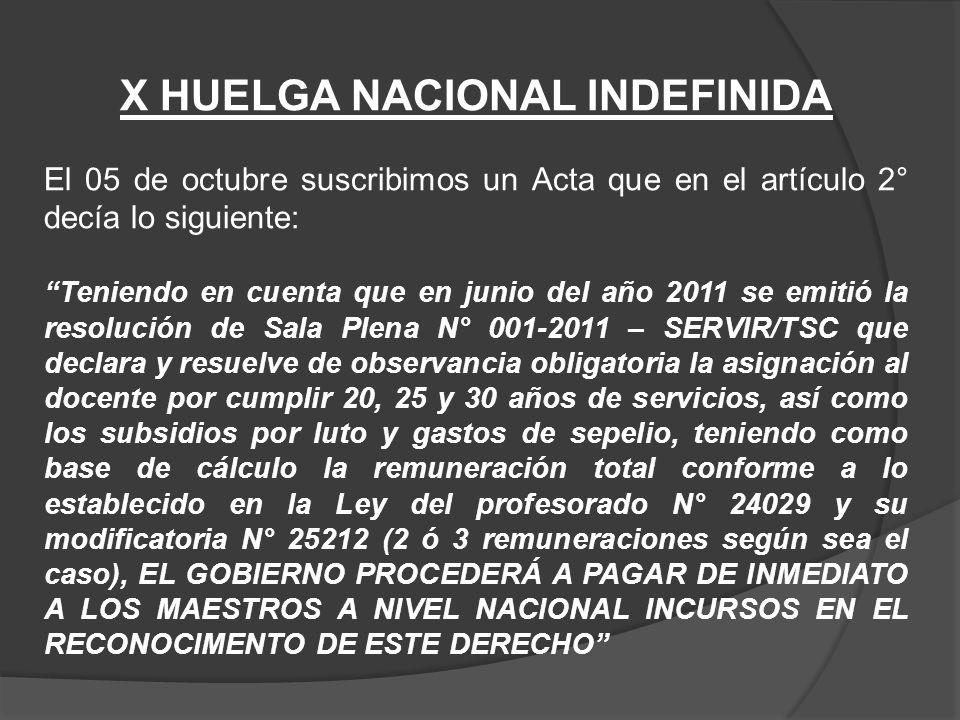 Durante el año 2011 y 2012 se pagaron en muchas UGELs de Lima.