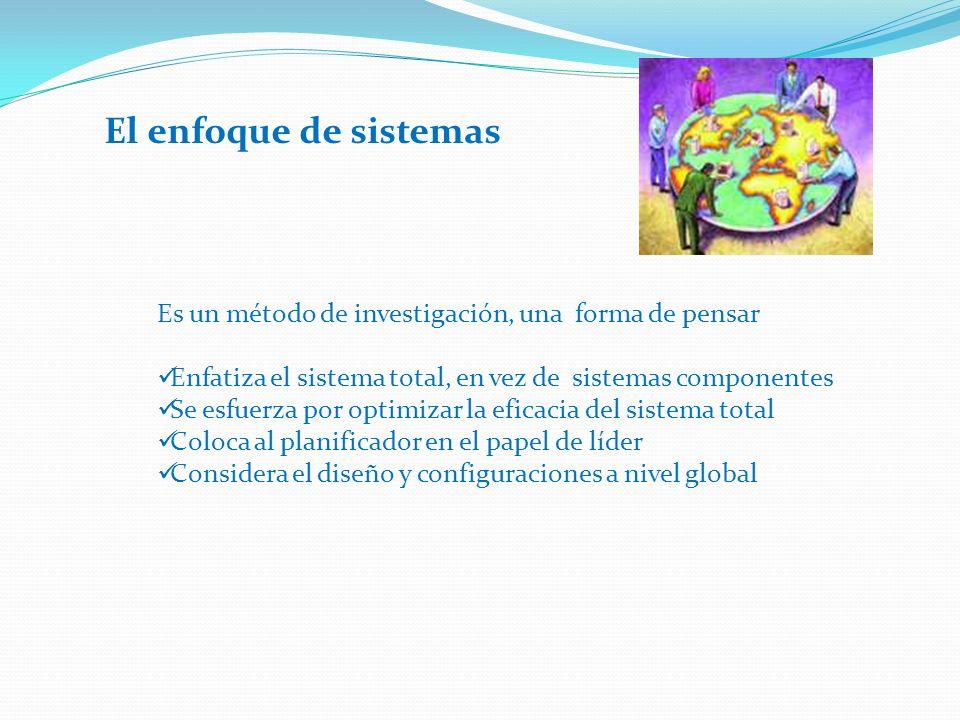 El sistema total comprende todos los sistemas que se considera afectan o se ven afectados por el problema que se trata 1.Definir los límites del sistema total y del medio 2.