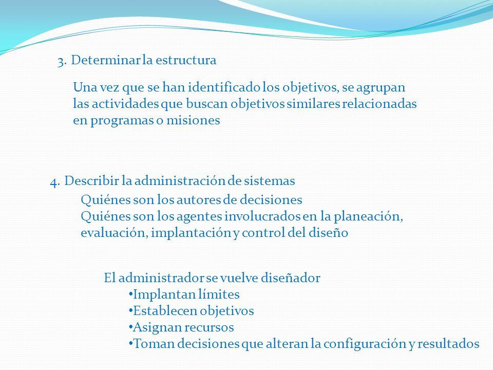 3.Determinar la estructura 4.