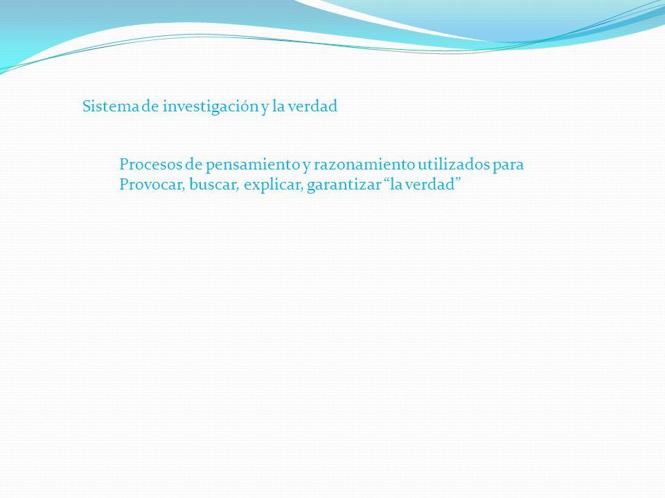 El Ciclo Prueba-Cosmovisión-Sistema de Indagación- Verdad Ciclo de Toma de decisiones
