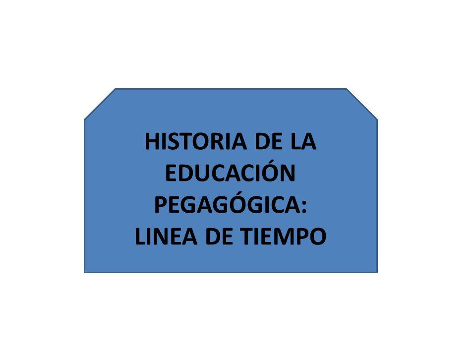 HISTORIA DE LA EDUCACIÓN PEGAGÓGICA: LINEA DE TIEMPO
