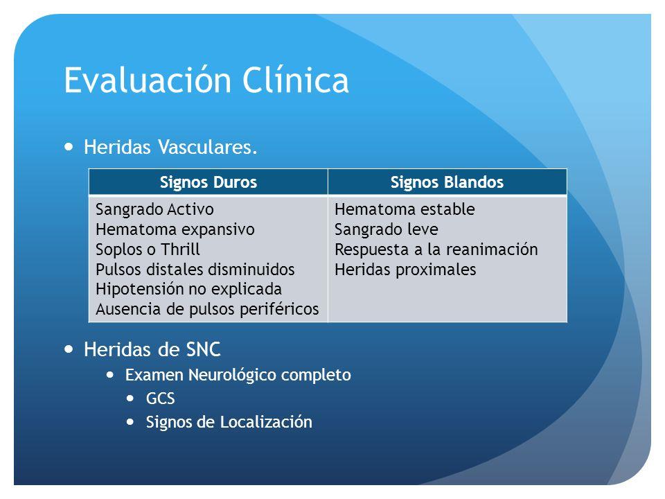 Evaluación Clínica Heridas Vasculares.