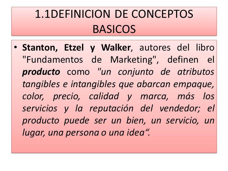 1.1DEFINICION DE CONCEPTOS BASICOS Stanton, Etzel y Walker, autores del libro