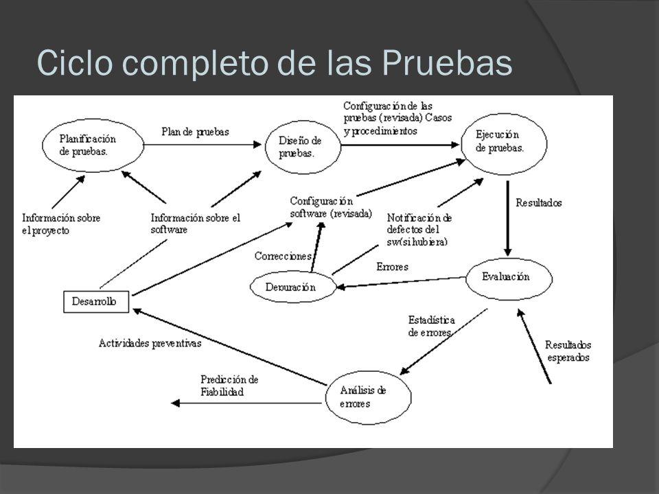 Ciclo completo de las Pruebas