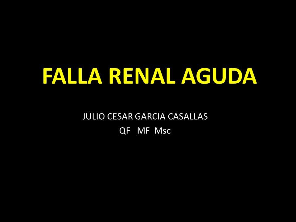 FALLA RENAL AGUDA JULIO CESAR GARCIA CASALLAS QF MF Msc