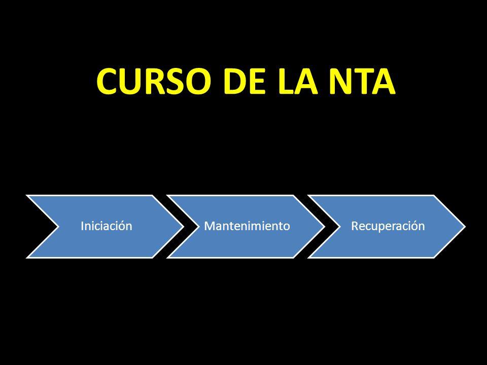 CURSO DE LA NTA IniciaciónMantenimientoRecuperación