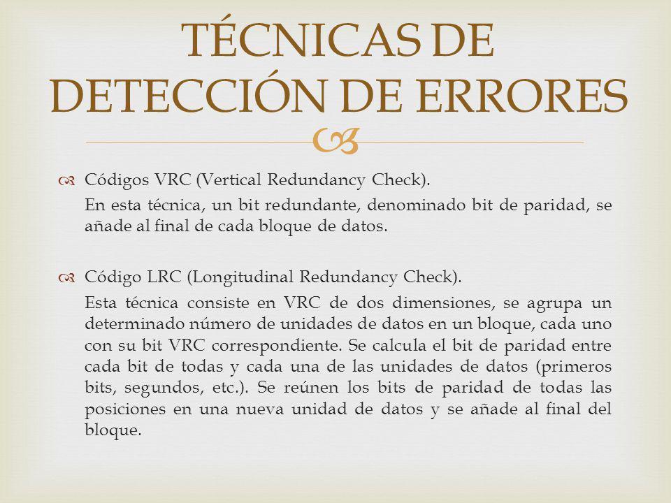 Comprobación de redundancia cíclica (CRC).