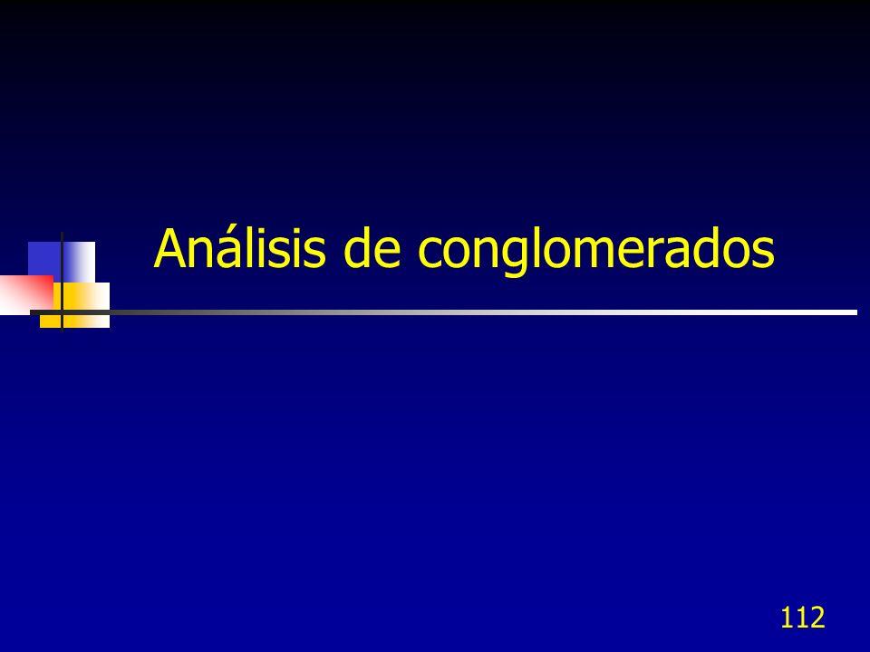 112 Análisis de conglomerados