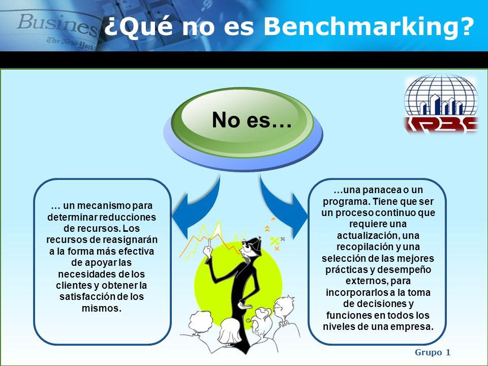 ¿Qué no es Benchmarking? … un mecanismo para determinar reducciones de recursos. Los recursos de reasignarán a la forma más efectiva de apoyar las nec