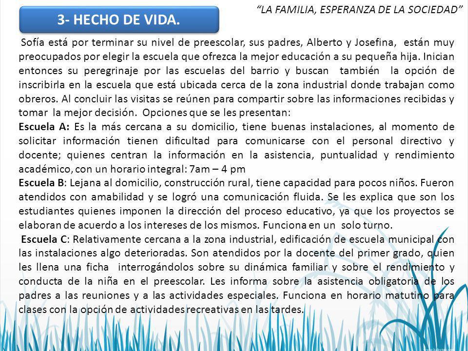 3- HECHO DE VIDA.3- HECHO DE VIDA.