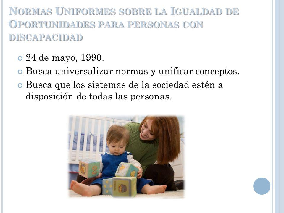 D ECLARACIÓN DE LOS DERECHOS DE LOS I MPEDIDOS Organización de las Naciones Unidas, 1975 Protección de derechos (explotación) Bienestar y rehabilitaci