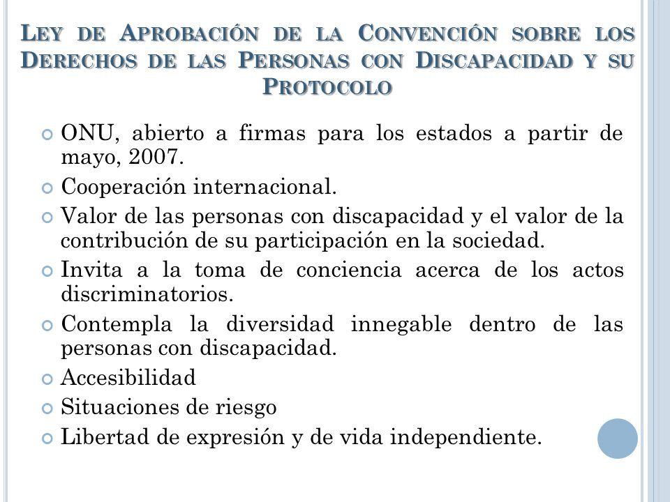 L EY 7600 1949, constitución política: artículo 48: establece el derecho a la educación, sin embargo en las personas con discapacidad se veía violenta