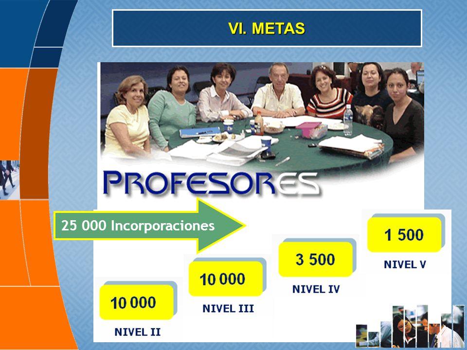 VI. METAS 25 000 Incorporaciones