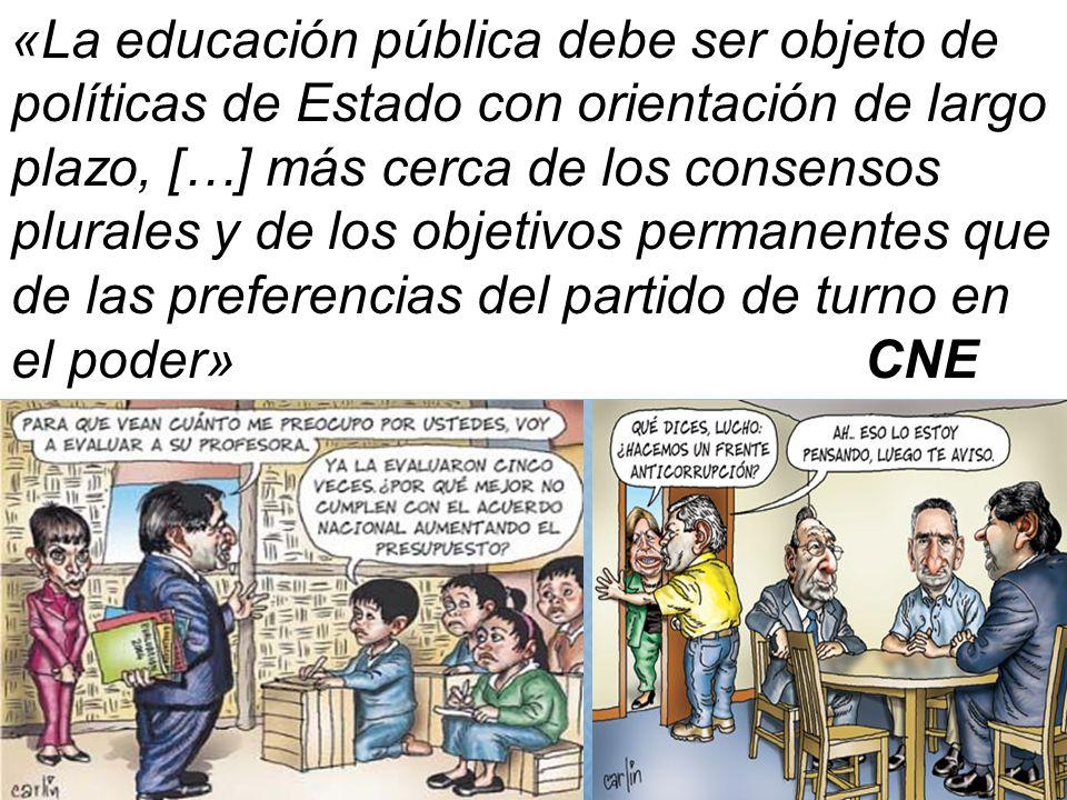 «La educación pública debe ser objeto de políticas de Estado con orientación de largo plazo, […] más cerca de los consensos plurales y de los objetivo