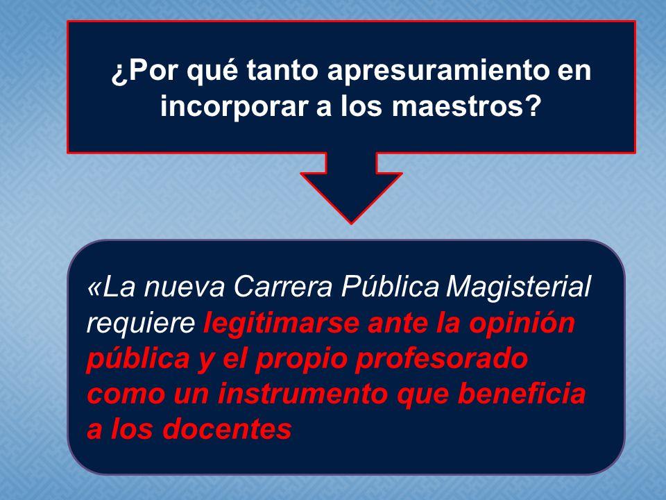 «La nueva Carrera Pública Magisterial requiere legitimarse ante la opinión pública y el propio profesorado como un instrumento que beneficia a los doc