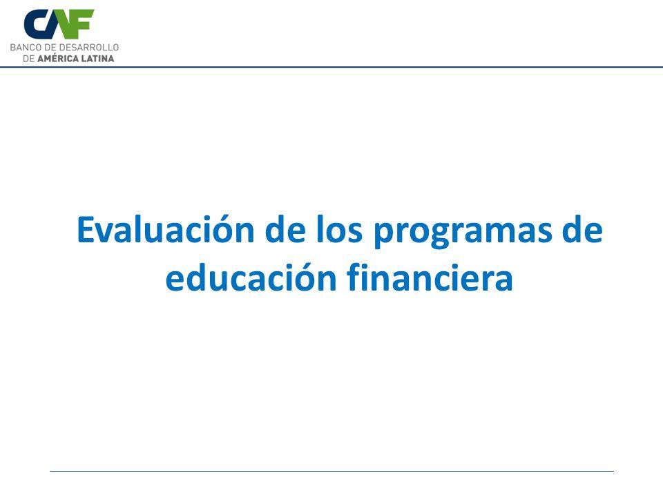 Evaluación de los programas de educación financiera