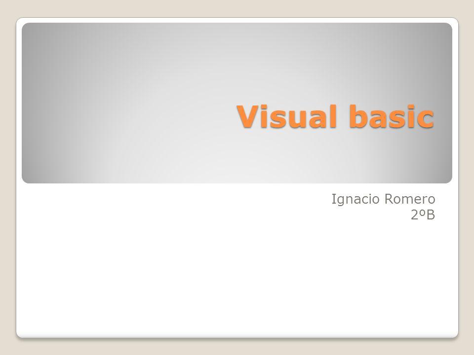 Visual basic Ignacio Romero 2ºB