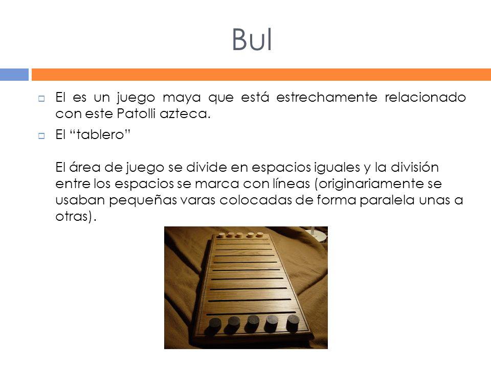Bul El es un juego maya que está estrechamente relacionado con este Patolli azteca.