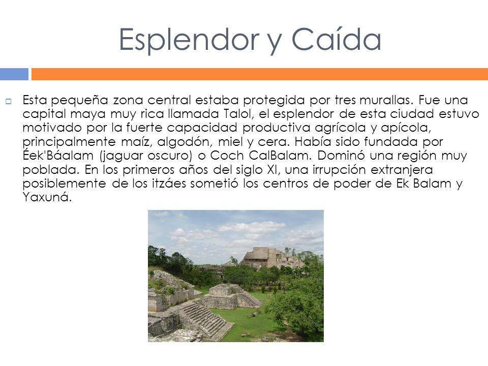 Esplendor y Caída Esta pequeña zona central estaba protegida por tres murallas.