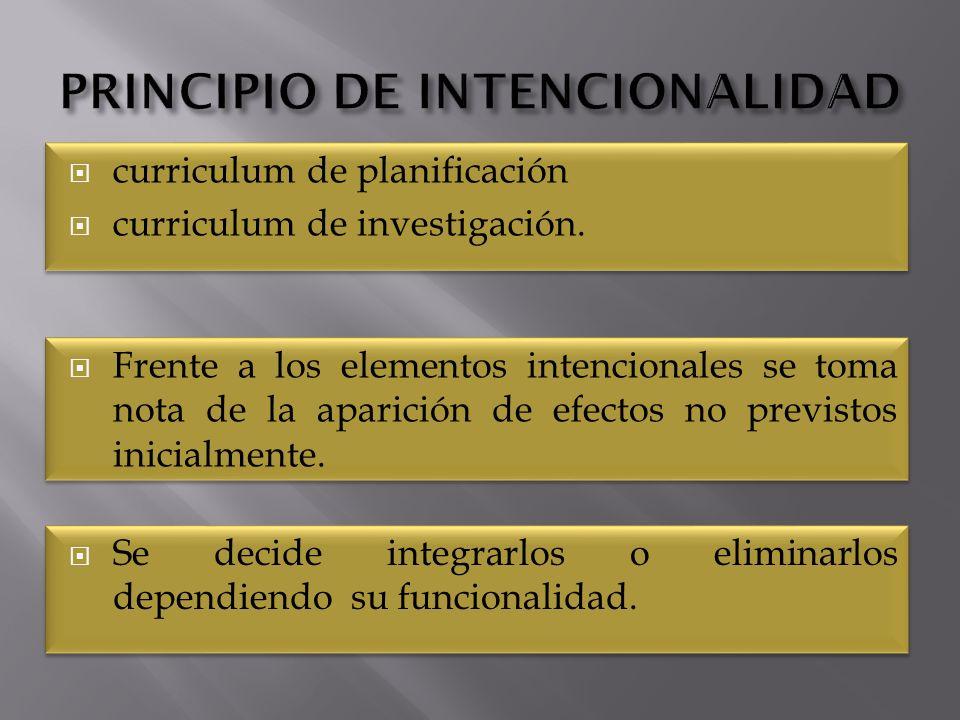 curriculum de planificación curriculum de investigación.
