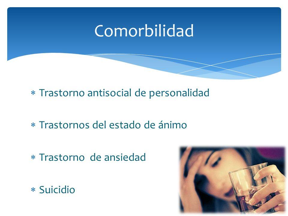 Trastorno antisocial de personalidad Trastornos del estado de ánimo Trastorno de ansiedad Suicidio Comorbilidad